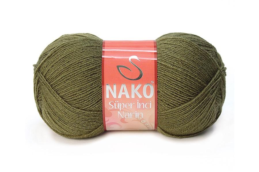 Nako Süper İnci Narin Haki-4234