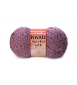 Nako Süper İnci Narin Koyu Gül Kurusu-569