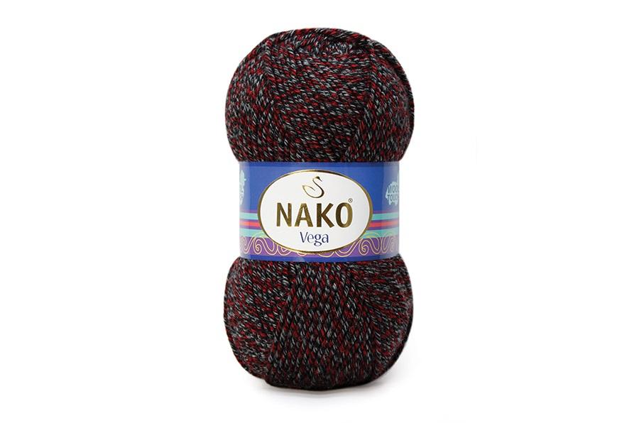 Nako Vega Siyah Kırmızı Gri Muline-21370