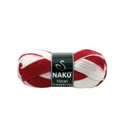 Nako Vizon Şampiyon Kırmızı Beyaz-86324