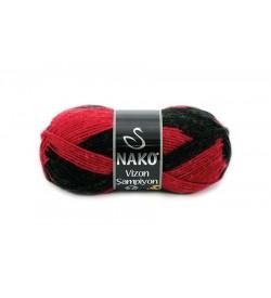Nako Vizon Şampiyon Kırmızı Siyah-86325