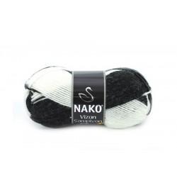 Nako Vizon Şampiyon Siyah Beyaz-85903