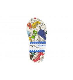 Renkli Ayakkabı Desenli Çocuk & Bebek Taban 20-21