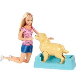 Barbie Bebek Anne Köpek ve Yenidoğan Yavruları Oyun Seti FDD43