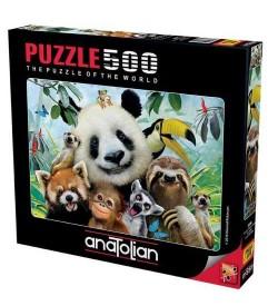 Anatolian Puzzle - 500 Parça - Hayvanat Bahçesi Selfie