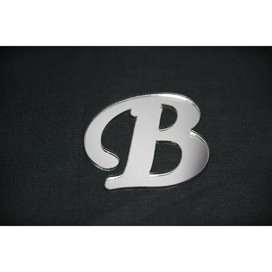 B Harfi Gümüş Pleksi Ayna
