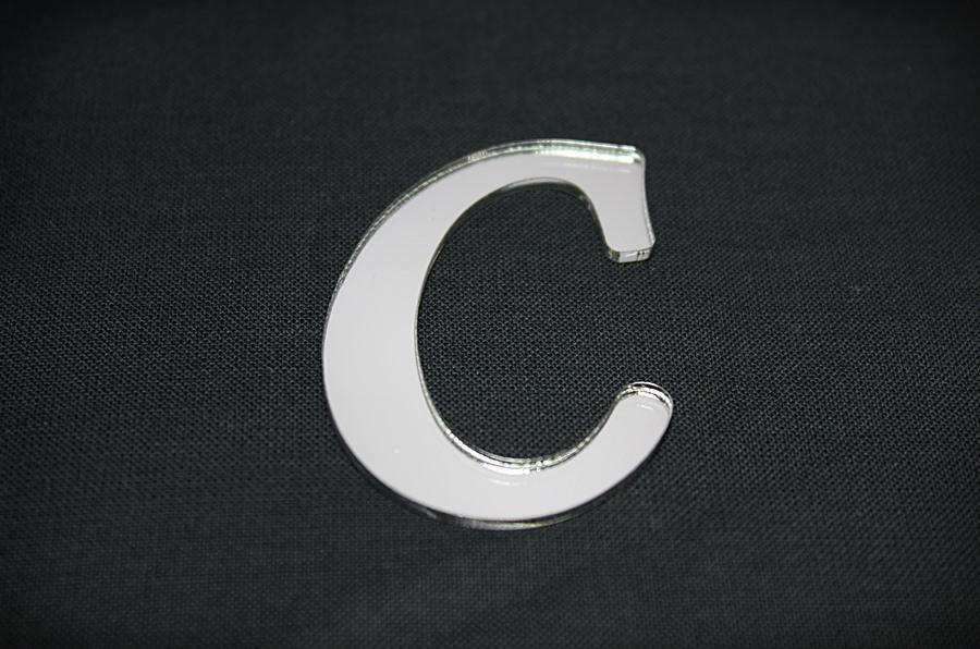 C Harfi Gümüş Pleksi Ayna