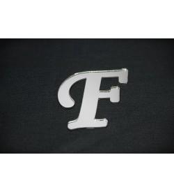 F Harfi Gümüş Pleksi Ayna