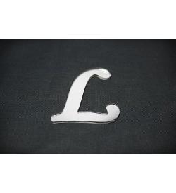 L Harfi Gümüş Pleksi Ayna