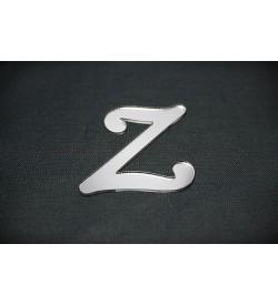 Z Harfi Gümüş Pleksi Ayna