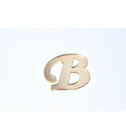 B Harfi Altın Sarısı Pleksi Ayna