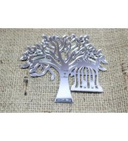 Ağaç Figürü Gümüş Rengi Pleksi Ayna