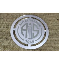 Antalyaspor Amblemi Gümüş Rengi Pleksi Ayna