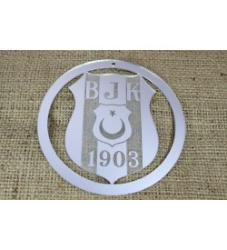 Beşiktaş Amblemi Gümüş Rengi Pleksi Ayna
