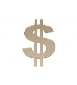 Dolar Figürü Altın Sarısı Pleksi Ayna