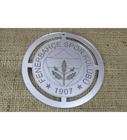 Fenerbahçe Amblemi Gümüş Rengi Pleksi Ayna