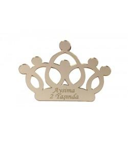 Kral Tacı Altın Sarısı Pleksi Ayna 03