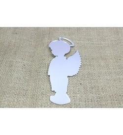 Melek Figürü Gümüş Rengi Pleksi Ayna 02