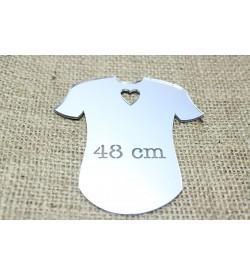 T-Shirt Fügürlü Gümüş Rengi Pleksi Ayna 01