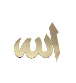 Allah Lafzı Altın Sarısı Pleksi Ayna 03