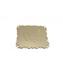 Allah Lafzı Altın Sarısı Pleksi Ayna 05