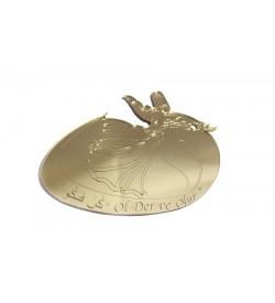 Mevlevi Figürü Altın Sarısı Pleksi Ayna 03
