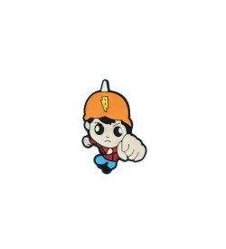 Turuncu Şapkalı Figürlü Silikon Obje