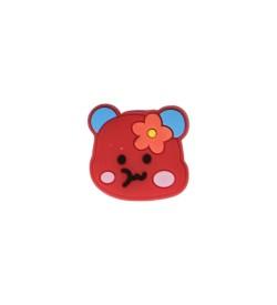 Kırmızı Renk Ayıcık Figürlü Silikon Obje