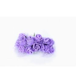 12'li Mor Çiçek Demeti