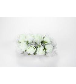 12'li Kırık Beyaz Çiçek Demeti