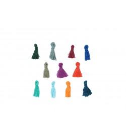 Karışık Renkli Mini Takı Püskülü 18 mm