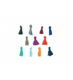 Karışık Renkli Mini Takı Püskülü 15 mm