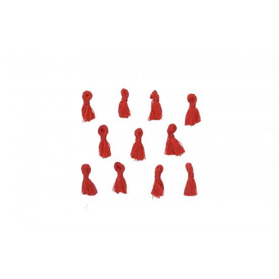 Kırmızı Mini Takı Püskülü 18 mm