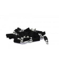 Gümüş Topuzlu Siyah Takı Ve Tesbih Püskülü 100 Adet