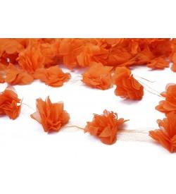 Şifon Çiçek Turuncu