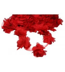 Kırmızı Şifon Çiçek