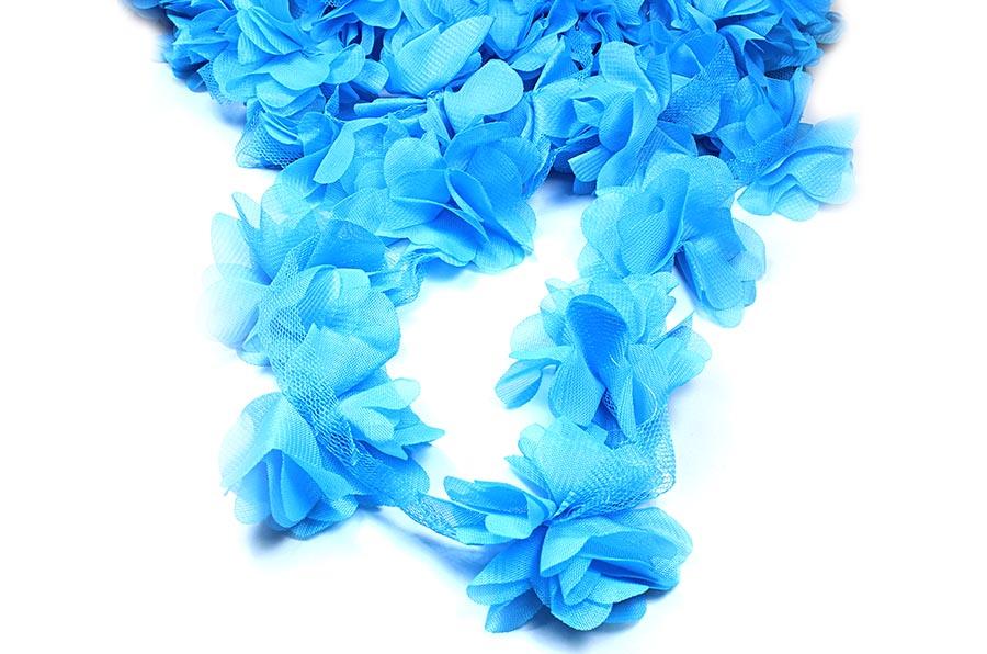 Mavi Şifon Çiçek