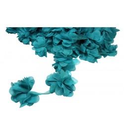 Petrol Mavisi Şifon Çiçek