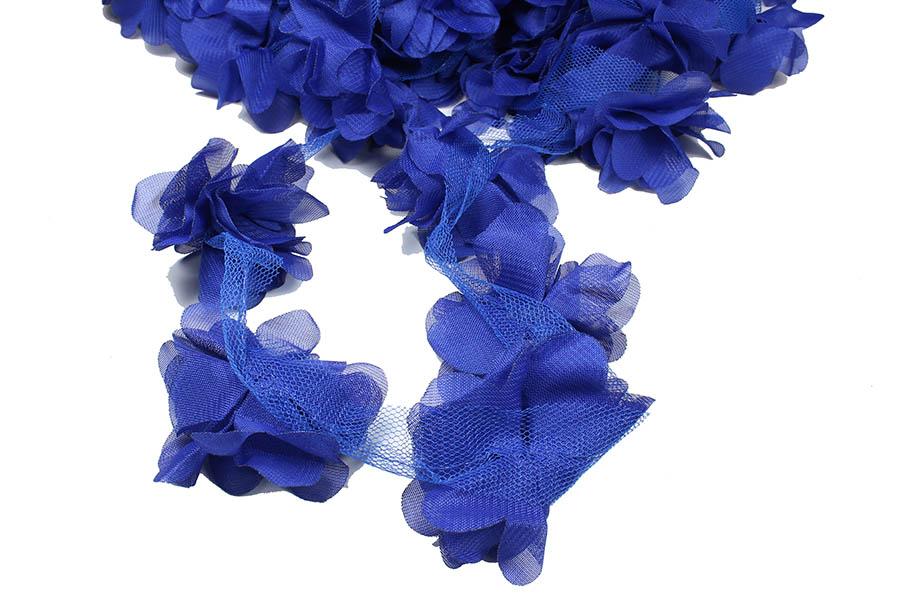 Saks Mavisi şifon çiçek